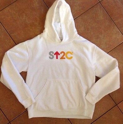 STAND UP 2 CANCER white Hoodie Unisex Child's XL (Possible Adult Small)