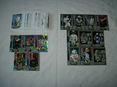 Star Wars - The Force Awakens: Force Attax = Bundle of 115 Trading Cards [B13]