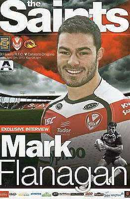 St.helens V Catalan Dragons Rugby League Programme 12-04-13