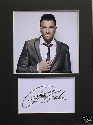 Peter Andre  signed mounted autograph 8x6 photo print display  #B