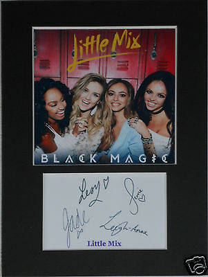 Little Mix  signed mounted autograph 8x6 photo print display  #B1