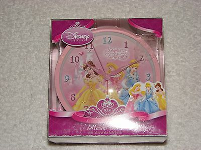 Disney Princess's Alarm Clock With Glow in the Dark Hands NEW IN PACKAGING