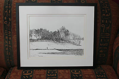 The Walk - An original pen & ink drawing by Jame Cooper of Unknown Norfolk