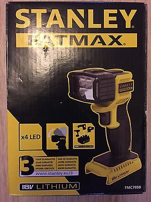 Stanley Fatmax FMC705C LED 18V Flash Light - Bare Unit New, Sealed
