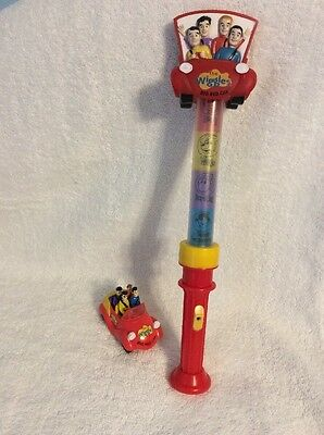 THE WIGGLES Big Red Car WAND PLASTIC STICK  And Push Car Lot