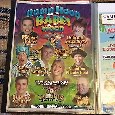 An Original Pantomime Poster 40x30cm Of Robin Hood & The Babes In The Wood Leeds