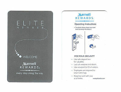 KEYCARD Hotel Schlüssel Tür karte Room Key ~ MARRIOTT Rewards ELITE Kanada