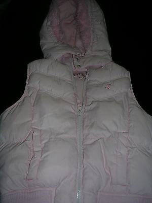 Girls hooded pink fur trimmed Gillet age 5-6 years