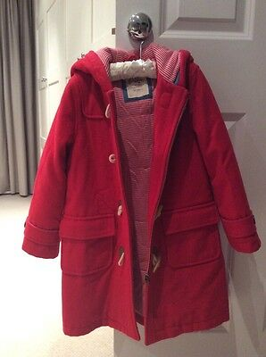 Mini Boden Girls Duffle Coat in Red Age 6-7 Fab Condition