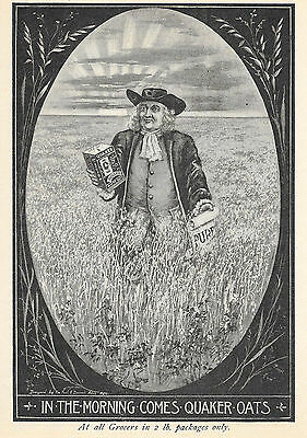 Neat 1897 Quaker Oats In 2 Pound Package Ad Advertisement