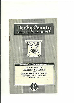 1959/60 FA Cup 3rd round  Derby County v Manchester United