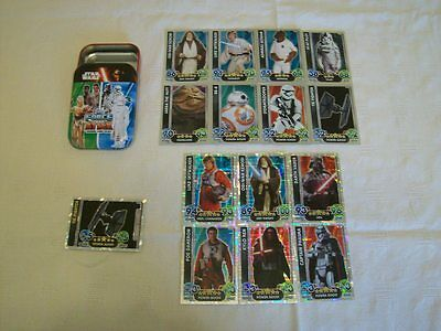 Star Wars - The Force Awakens: Force Attax = 15 x Foil Cards + Collectors Tin