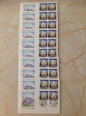 10 New First Day Cover Australian Bicentenary 1788-1988