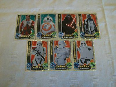 Star Wars - The Force Awakens: Force Attax = 7 x Holographic Foil Cards [B2]