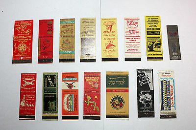 Lot of 15  Matchbook Covers Washington D.C. Clubs and Restaurants  #6