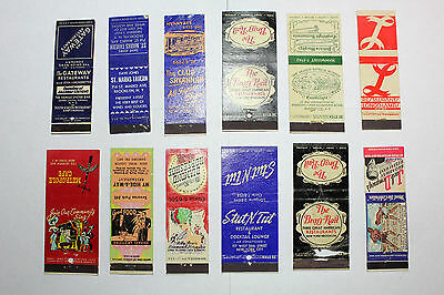 Lot of 12  Matchbook Covers  New York NY  Clubs & Restrurants  #11