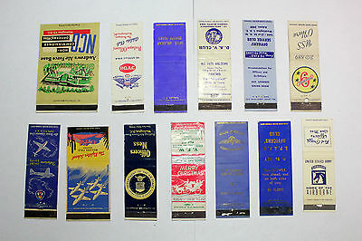 Lot of 13   Matchbook Covers  Mixed Military Theme Clubs Officers Mess +  #17