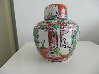 Chinese Famille Rose Ginger Jar Signed