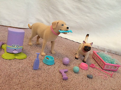 Barbie Tanner the Dog & Mika the Cat Pets and Accessories