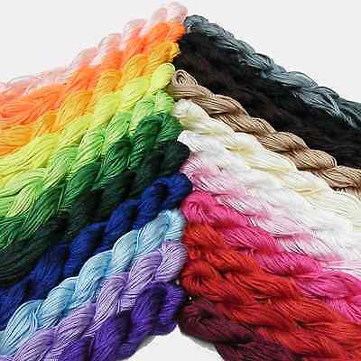 Kumihimo Satin Nylon Rattail Cord - 1mm Nylon Thread - 24Mtrs  > Great Value