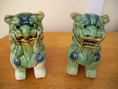 Chinese vintage pair of foo dogs great condition