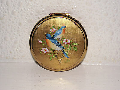 Vintage Stratton Powder Compact,birds,excellent & Signed.