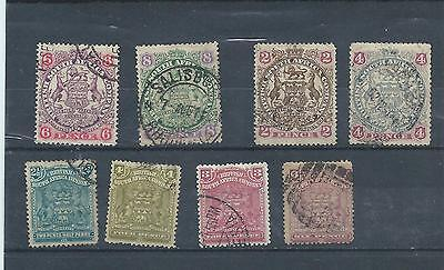 Rhodesia stamps. BSAC Arms lot used. (X251)