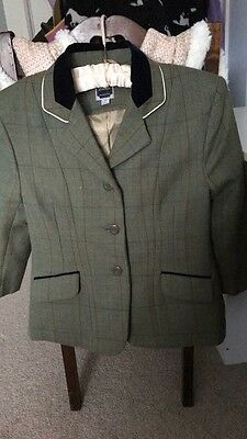 Dublin Children's Tweed Jacket Hunting Showing 100% Wool Kids Age 8 9 10 Ex Con