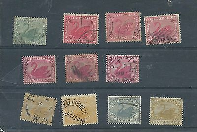 Western Australia stamps. Small used lot. (Y012)
