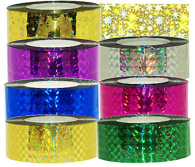 """Holographic Prismatic Tape, 1"""" x 147ft(45m) 