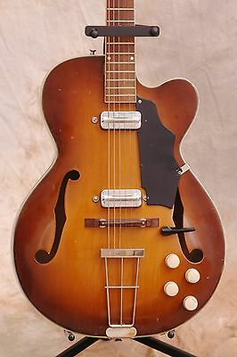 Kay Swingmaster 1960 Honeyburst Beauty Archtop Electric Guitar w/Hard Case!