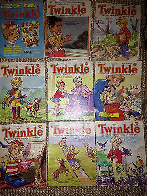 16 Vintage Twinkle Comics - 1980s - Job lot including issue 1000