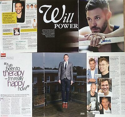 WILL YOUNG UK 9 Page Magazine Clippings Pack *Leave Right Now Strictly Pop Idol