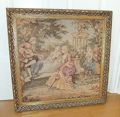 Framed Tapestry - Picture - Wall Hanging - Garden - Cash On Collection Only