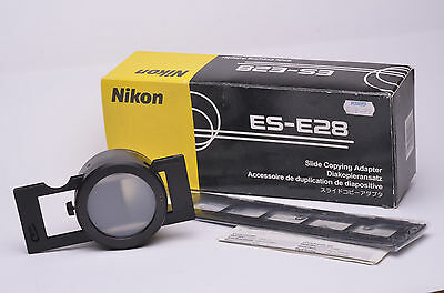 Nikon ES-E28 slide copy adaptor, complete, boxed, VGC