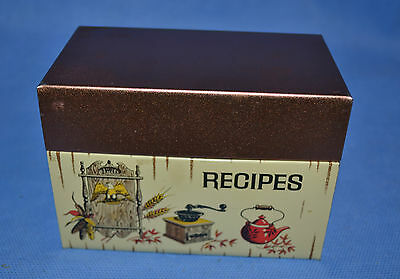 Vtg J Chein Recipe Tin Box With Dividers Made In Usa