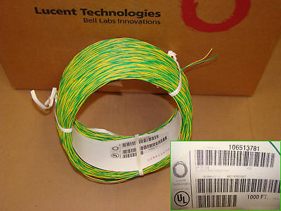 Lucent DT 2 Conductor-24 AWG Cross Connect Wire Yellow/Green 1000ft