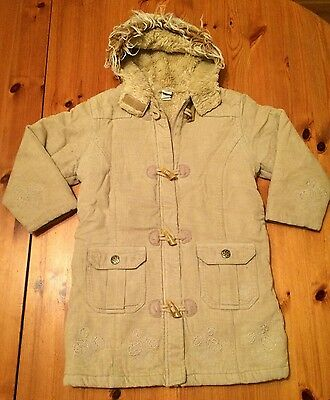 Girls Beige Winter Duffle Coat With Toggles Age 4 Years