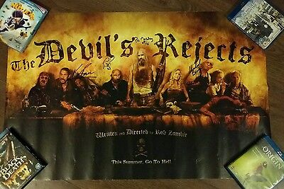 The Devils Rejects poster Signed x4 ken Foree, Michael Berryman, photo proof.