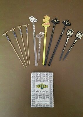 A Selection Of Swizzle And Cocktail Sticks From Las Vegas Casinos
