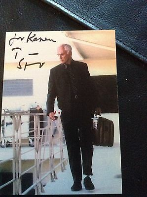 Terence Stamp Signed Autograph Dedicated