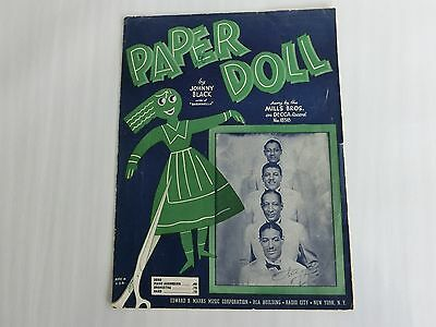 1941/42 Paper Doll Music Song Sheets-Mills Bros. Decca Records