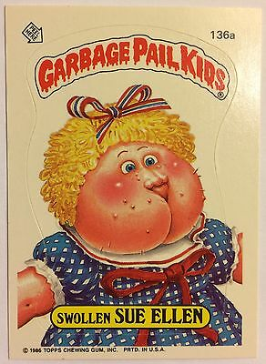 Swallen Sue Ellen 136a Garbage Pail Kids US 4th Series(1986)Sticker/Vintage/Mint