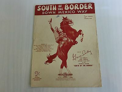 1939 South Of The Border Down Mexico Way Song Music Sheet-Sung By The World's Mo