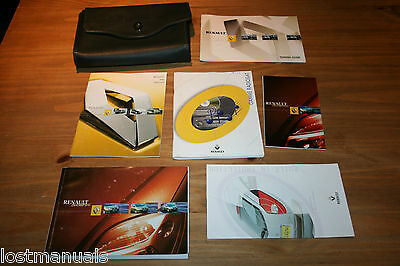RENAULT SCENIC Mk1 OWNERS MANUAL HANDBOOK, WALLET, 2000-2003, AUDIO MANUAL
