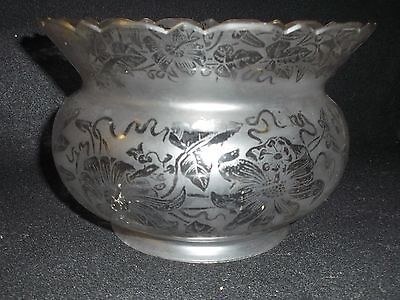 "Antique 5"" Crown Etched Gas Shade"