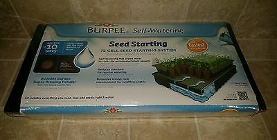 NEW Burpee Seed Starting Greenhouse Kit 72 cell kit with soil self watering