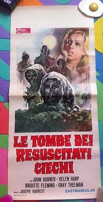 TOMBS OF THE BLIND DEAD - ORIGINAL ITALIAN LOCANDINA poster