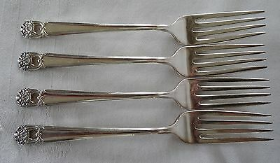 1847 ROGERS BROS IS  Silverplate ETERNALLY YOURS lot 4 Forks 7""