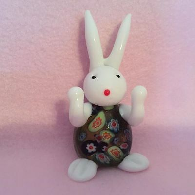 Art Glass Rabbit Figurine ~ NEW ~ Colorful Collectible Gift 12678
